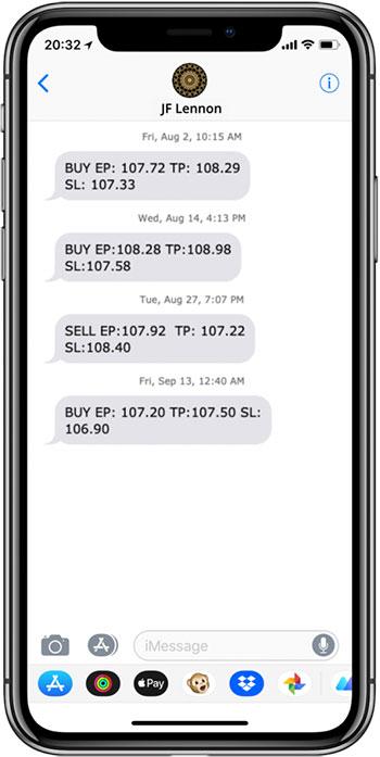 JFL Sample Trade Signals