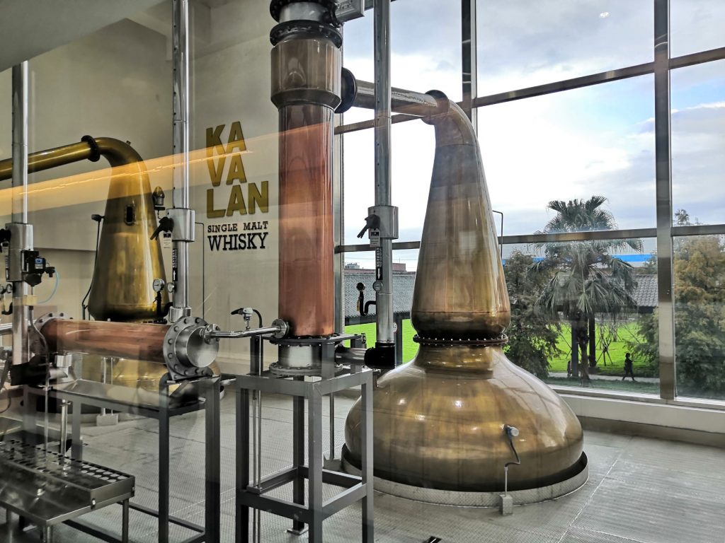 A drunk group makes haste of the Kavalan distillery tour.